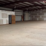 View of Warehouse Space from Back Right Corner toward Front Left